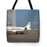 A Bombardier Global 5000 Vip Jet Tote Bag