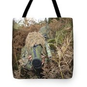 A British Army Sniper Team Dressed Tote Bag