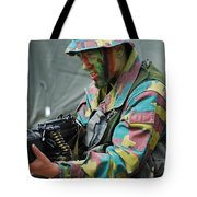 A Paratrooper Of The Belgian Army Tote Bag