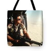 A Soldier Scans The Horizon Tote Bag
