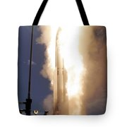 A Standard Missile 3 Is Launched Tote Bag