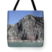 Acidic Crater Lake, Kawah Ijen Volcano Tote Bag