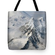 Aerial View Of Shishaldin Volcano Tote Bag