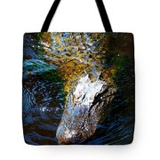 Alligator In Mississippi River Tote Bag