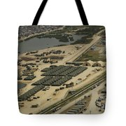 An Aerial View Of The White Beach Tote Bag