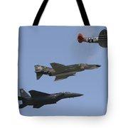 An F-15 Eagle, P-47 Thunderbolt Tote Bag