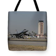 An F-16 Fighting Falcon Takes Tote Bag