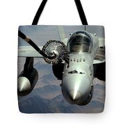 An Fa-18c Hornet Receives Fuel Tote Bag