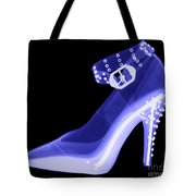 An X-ray Of A High Heel Shoe Tote Bag