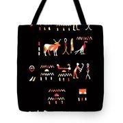 Ancient Egyptian Hieroglyphs Tote Bag