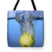 Apple Dropped In Water Tote Bag