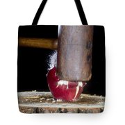 Apple Smashed With Mallet Tote Bag