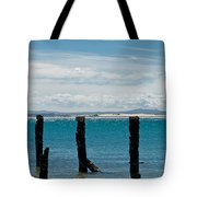 Beautiful Rotten Mooring On A Beach Tote Bag