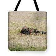Belgian Paratroopers On Guard Tote Bag
