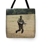 Belgian Paratroopers Proceeding Tote Bag