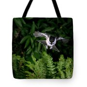 Black-capped Chickadee In Flight Tote Bag
