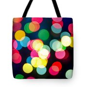 Blurred Christmas Lights Tote Bag by Elena Elisseeva