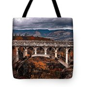 Bridge Over Autumn Tote Bag