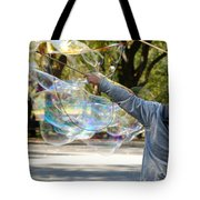 Bubble Boy Of Central Park Tote Bag