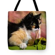 Calico Cat In Basket Tote Bag