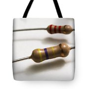 Carbon Film Resistors Tote Bag by Photo Researchers, Inc.