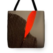 Cedar Waxwing Feather Tote Bag