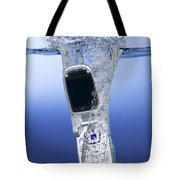 Cell Phone Dropped In Water Tote Bag
