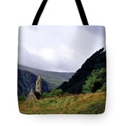 Chapel Of Saint Kevin At Glendalough Tote Bag