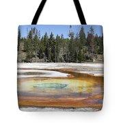 Chromatic Pool Hot Spring, Upper Geyser Tote Bag