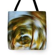Circular Palm Blur Tote Bag
