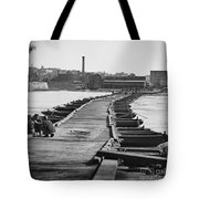 Civil War: Pontoon Bridge Tote Bag