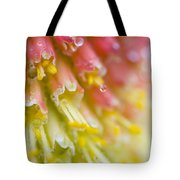 Close Up Of Flower Stamen Tote Bag