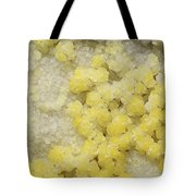 Close-up Of Yellow Salt Crystals Tote Bag