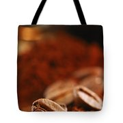 Coffee Beans And Ground Coffee Tote Bag by Elena Elisseeva