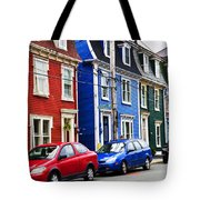 Colorful Houses In St. John's Tote Bag