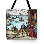 Columbus: Departure, 1492 Tote Bag