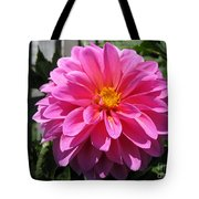 Dahlia Named Lucky Number Tote Bag