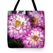Dahlia Named Pink Bells Tote Bag