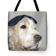 Dog With A Sleep Mask Tote Bag