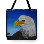 Eagle At Dusk Tote Bag