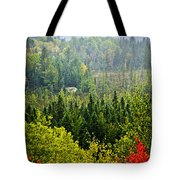 Fall Forest Rain Storm Tote Bag