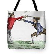 Fencing, 18th Century Tote Bag