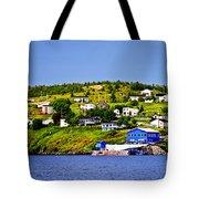 Fishing Village In Newfoundland Tote Bag