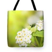 Floral Background. Lantana Flowers Tote Bag