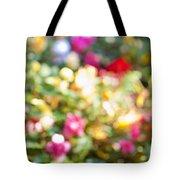 Flower Garden In Sunshine Tote Bag