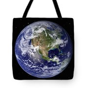 Full Earth Showing North America Tote Bag