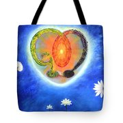 God Lives In My Heart Tote Bag