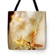 Golden Christmas Stars Tote Bag