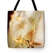 Golden Christmas Stars Tote Bag