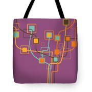 Graphic Tree Pattern Tote Bag by Setsiri Silapasuwanchai